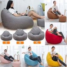 WOSTAR Lazy Sofas Cover Chairs fashion without Filler Linen Cloth Lounger Seat Bean Bag Pouf Puff Couch Tatami Living Room bean bag sofa cover chairs pouf for kids adults living room lazy bean bag living room lazy bean bag sofa relax furniture