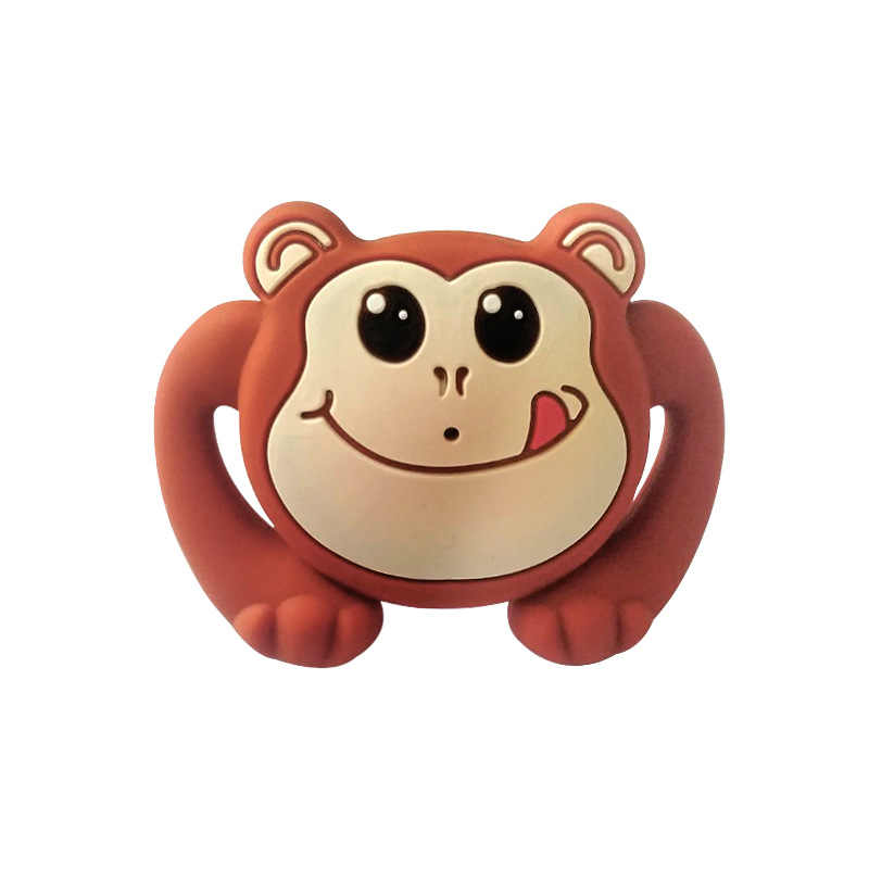 1pcs Monkey Pacifier Food Grade Silicone Funny Baby Dummy Nipple Teethers Toddler Orthodontic Soothers Teat Baby Gift