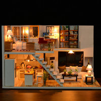 Birthday Gifts Wooden Furniture Multiple Styles Loft Apartments DIY Cabin Miniature Assemble Christmas Music Handmade Craft