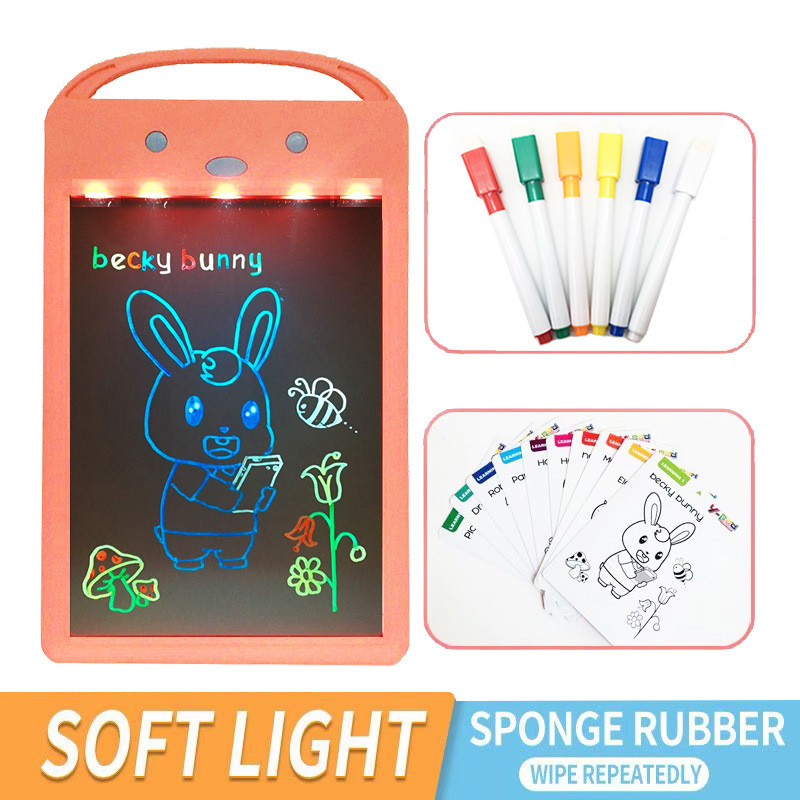 New Style Creative LCD Writing Pad Children Early Childhood Educational Graffiti Drawing Board Hot Selling Fluorescent Writing B