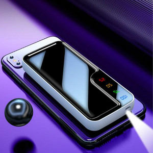 Image 3 - Power Bank 30000mAh Mirror Screen Digital Display External Battery 2 USB Fast Charger for Smart Phone