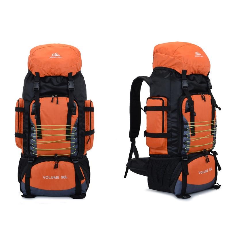 90L  Travel Bag Camping Backpack Hiking Army Large Capacity Sport Bag 10