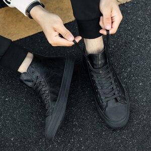 Image 2 - Valstone الرجال أحذية رياضية من الجلد مقاوم للماء حذاء كاجوال خمر الذكور الأحذية ستوكات لينة الأحذية الشارع الأحذية الدانتيل متابعة hombres