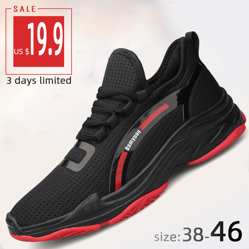 Damyuan Lifestyle Running Shoes Comfortable Breathable Mesh Men's Sneakers Outdoor Non-slip Tennis Sports Shoes Big Size 38-46