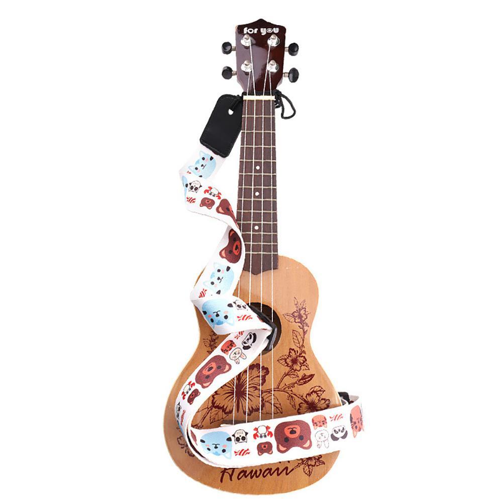 2020 Top Selling Lovely Cartoon Kids Ukulele Strap Polyester Band Belt For Ukulele Music Instrument Accessories 38mm*1.4m
