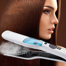 Professional Salon Steam Straight Hair Straight Hair Comb Negative Ion Electric Ceramic Splint Perm LCD Hair Styling Tool стоимость