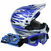 DOT Dirt Bike ATV Motocross Helmet w/ Gloves + Goggles Adult / Youth cascos para moto kask motocyklowy full face Off-Road Helmet 2