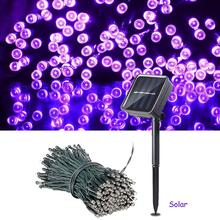 цена на Solar Powered Led String Fairy Light 100 LED Solar Garland Christmas Light Outdoor Garden Decoration Fence Patio Xmas Party Lamp