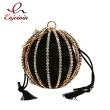 Handbags Crossbody Flower Pueses Chain-Bag Pearl Diamond Women Ladies Luxurious Metal-Ball