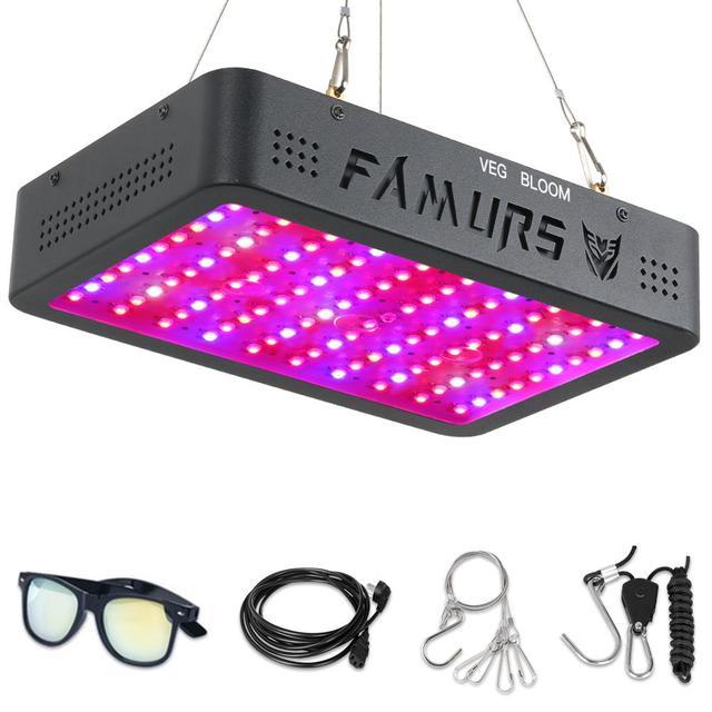Famurs lampe horticole de croissance LED, 1000/1200/1500/2000/3000/4000W, triple puce, éclairage à spectre complet pour serre intérieure, végétation/floraison