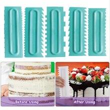 Kuchen Schaber Creme Glatter Gebäck-zuckerglasur Kämme Backen Zubehör 1Pcs Fondant Spatel Food Grade Plastic Kuchen Dekorieren Kamm