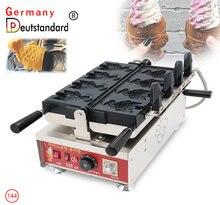 Промышленная электрическая рыба с открытым ртом Форма вафельница