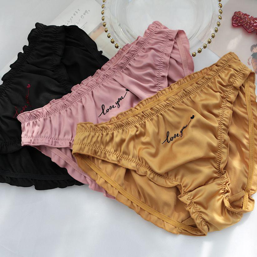 New Sexy Underwear Women Panties Silk Satin Briefs Ropa Interior Femenina String Bielizna Damska Majtki Damskie Bragas Mujer