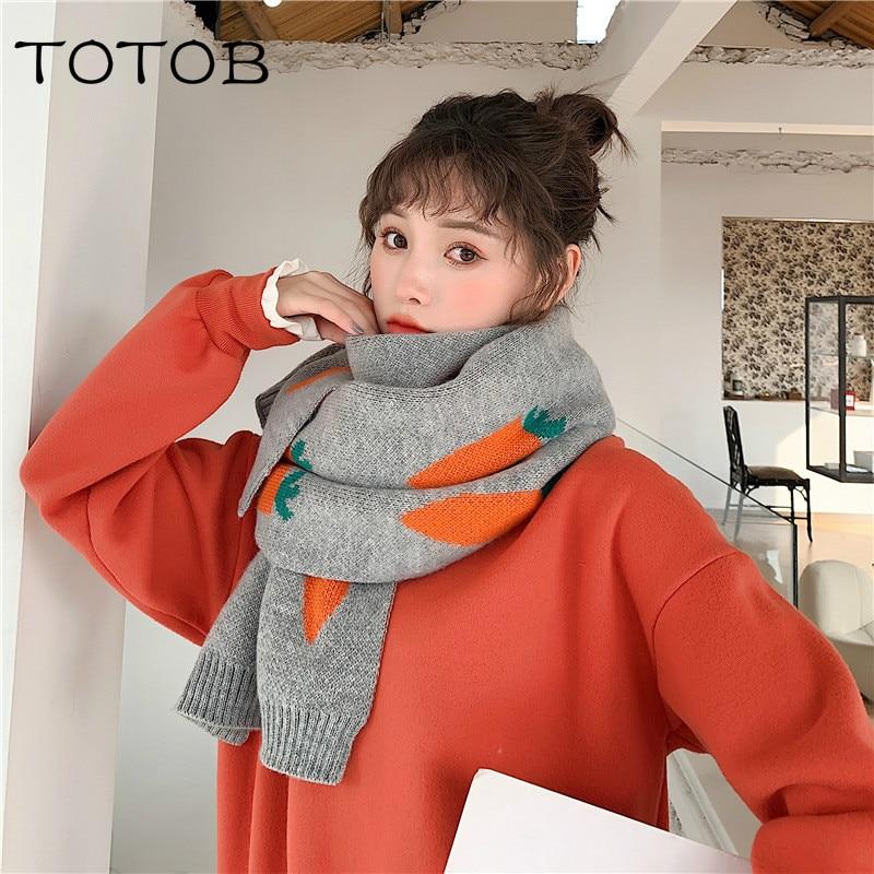 Шарф женский Зимний новый корейский Dongdaemun Пряжа вязаный теплый утолщенный дикий нагрудник шаль двойного назначения волнистый вязаный шарф