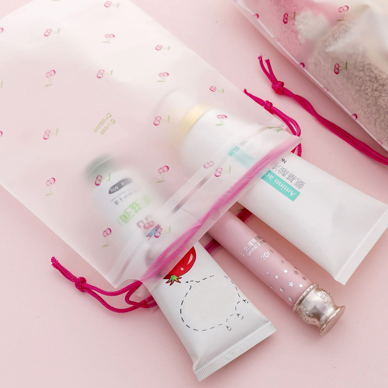 Drawstring Bags women Unisex fruit Printing For Teenagers Fashion Pocket Large Capacity Mochila