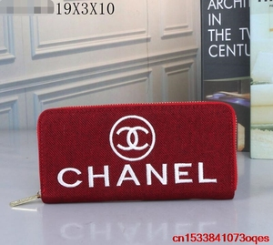 Luxury Designer Brand Chanel- Wallet women Purses Black Bifold Wallet Zipper Coin Purse C260