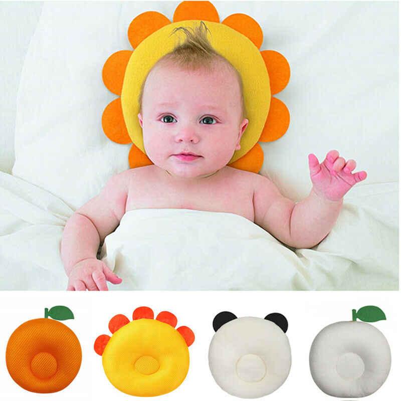 FAROOT nueva almohada para bebé recién nacido contra el síndrome de la cabeza plana cuna cama cuello soporte creativo frutas almohada