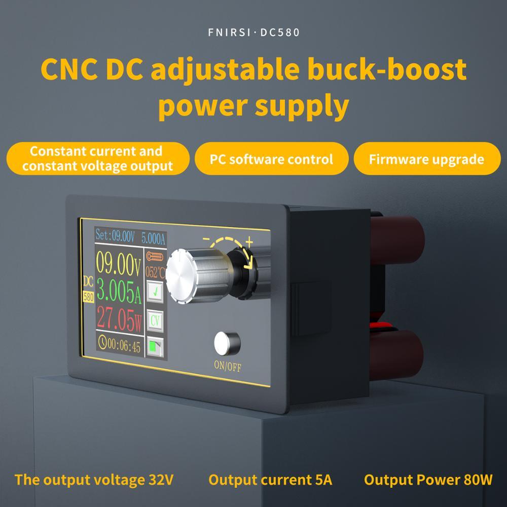 Convertisseur CC CC Buck Module dalimentation CC CV 1.8-32V 5A alimentation régulée réglable voltmètre ampèremètre CNC écran couleur 80W