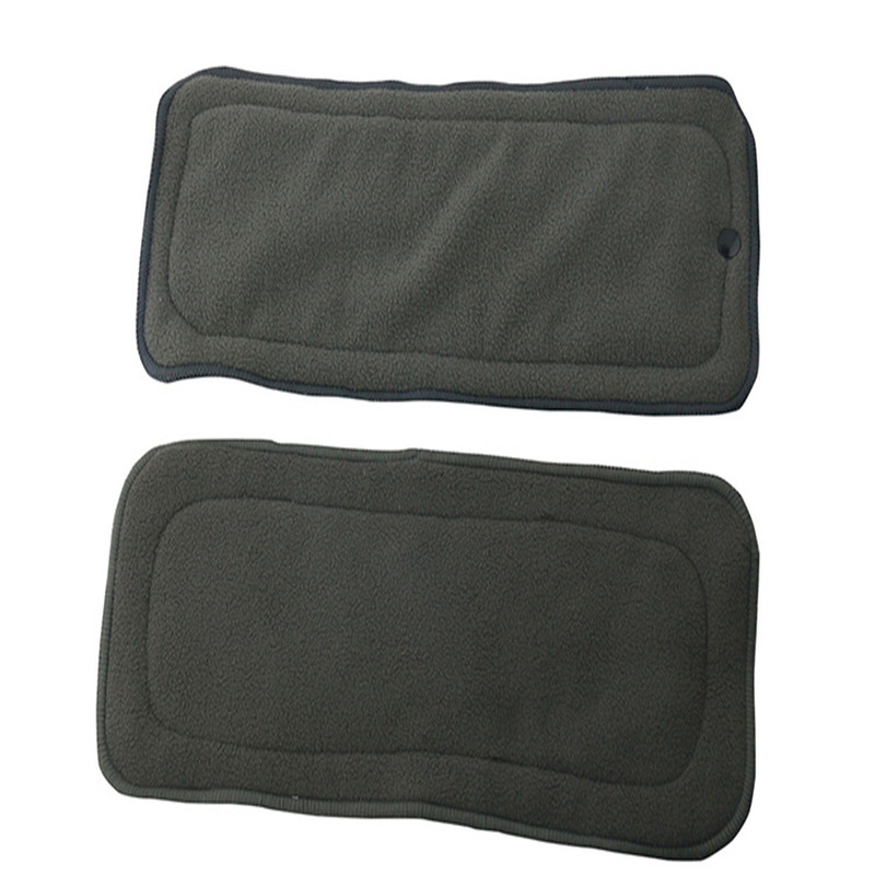 New Bamboo Charcoal Reusable Diaper Inserts Bamboo Cotton Hemp Cloth Diaper Nappy Changing Mat Microfiber Nappy Liners Washable | Happy Baby Mama