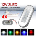 4 шт. 12 В 3 светодиодный лодочный лестничная площадка боковой маркер светильник вежливость светильник s индикатор указатель поворота светил...