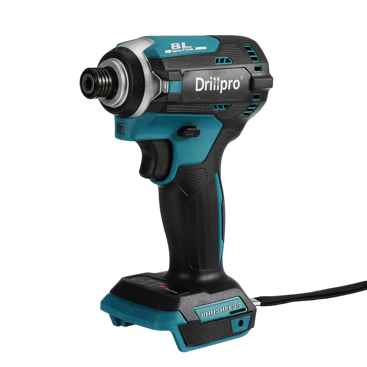 18V Cordless Electric Screwdriver Speed Brushless Impact Wrench Rechargable Drill Driver  3 LED Light For Makita Battery