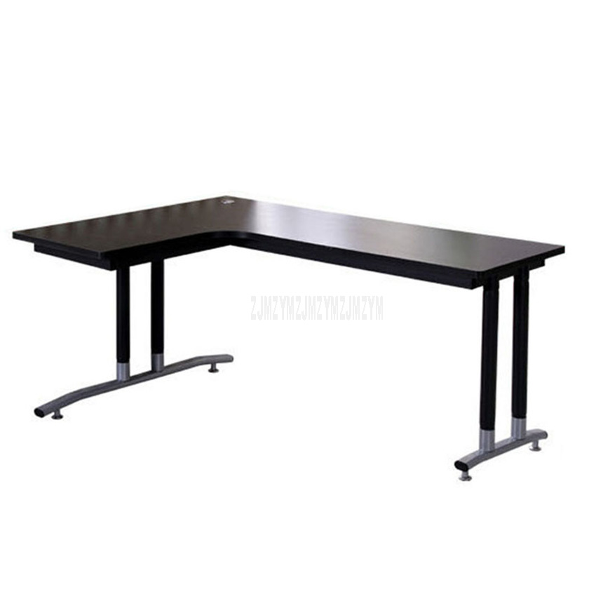 180*120cm L-Shape Office Writing Computer Desk Wood Desktop Right-angle Laptop Table Home Study Corner Computer Desk Steel Frame
