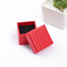 Korean Style Kraft Paper Earrings Jewelry Box Wedding Flocking Jewelry Box valentine's day Jewelry Packaging Accessories L(China)