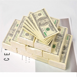10pc 100$ Dollars Napkin US Dollar Bill Money Paper Towel Party Gift Disposable Napkins Wedding Party Birthday Decoration(China)