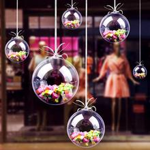 цена на Christmas Decor Hanging Ball Transparent Plastic Ball Eternal Flower Hanging Ball Christmas Tree hanging Ornaments Home Decor