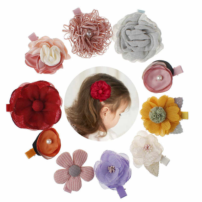 Fashion Children Hair Clips Headwear Cute Flower Hairpins Handmade Hair Barrettes Hairgrips Hair Accessories for Baby Kids