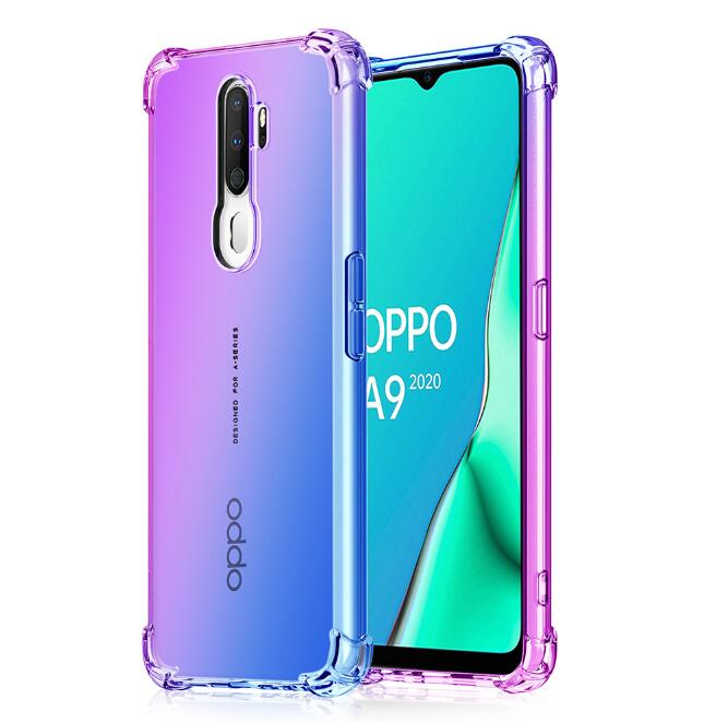 For <font><b>OPPO</b></font> <font><b>A9</b></font> <font><b>2020</b></font> <font><b>Case</b></font> Silicone Shockproof Airbag Protection Color soft silicone cover For <font><b>OPPO</b></font> Realme 5 pro <font><b>A5</b></font> <font><b>2020</b></font> A11X <font><b>case</b></font> image