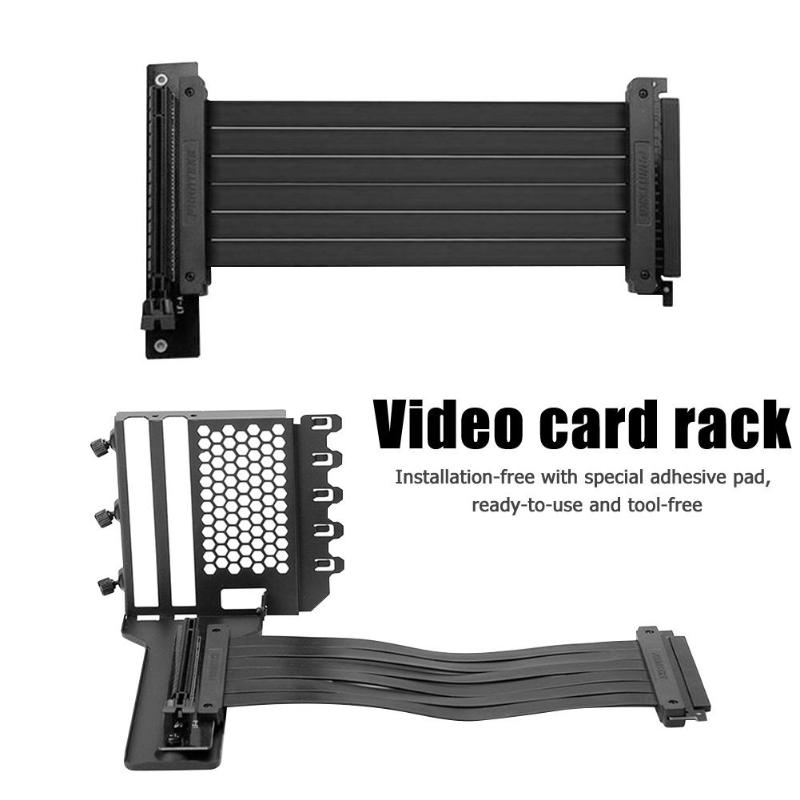 2020 New Graphics Card Holder Stand Metal Video Card Extension Mounting Bracket With PCI Adapter Cable For 7 PCI Chassis PC Case