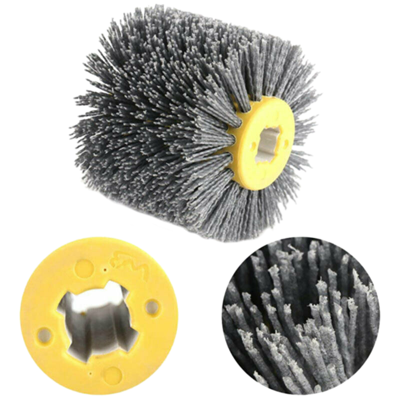 1Pc 120*100*20mm Abrasive Brush Burnishing Wheel Brush 80/120 Grit Optional Finishing Roller For Wooden Furniture Polishing