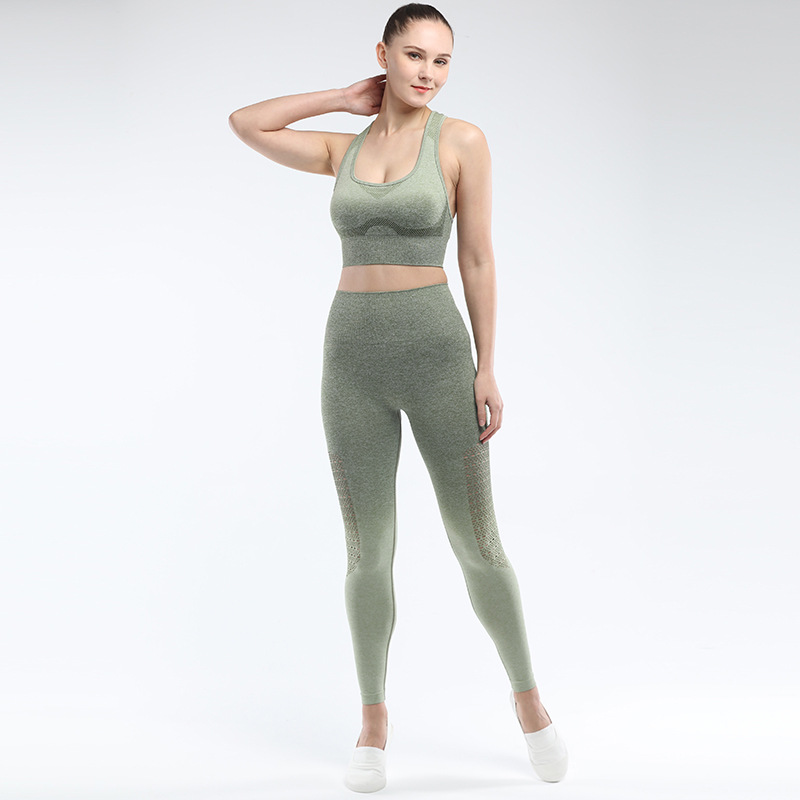 SNOWSONG 2Pcs High Waist Legging Pants /& Padded Racerback Sports Bra Crop Tank Top for Yoga Gym Workout Fitness
