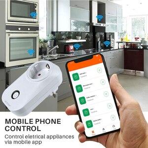 Image 5 - ACCKIP Europe Plug WiFi Smart Socket Voice Control Time Setting Tuya Smart Life App Smart Plug 16A Power Meter Energy Saving