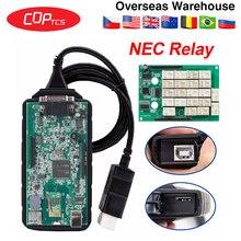 CDP TCS Bluetooth USB,00 keygen V3.0 реле NEC obd2 сканер автомобилей грузовиков OBDII диагностический инструмент