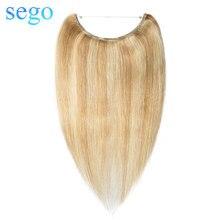 """SEGO 1""""-24"""" прямые человеческие волосы для наращивания с изображением пианино и чистого цвета, невидимая проволока, накладные человеческие волосы без Реми"""