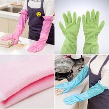 Резиновые перчатки водонепроницаемые пригодные для мытья посуды на кухне перчатки
