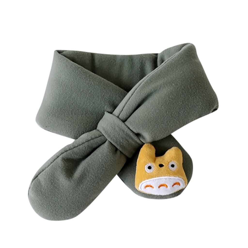 Шарф, коллекция года, весна-зима, новинка, для мальчиков и девочек, милые теплые шали, шарфы, воротник, уплотненный зимний шарф, милые детские шарфы,# D19 - Цвет: Зеленый