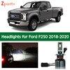 1 Pair Car Bulbs For Ford F250 Super Duty 2018 2019 2020 Kit Hid LED Lamp Headlight Lights Bulbs Cars Low High Beam 6000k