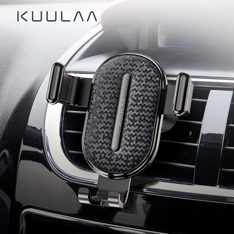 KUULAA Car Phone Holder Gravity Stand For Car Phone Support Holder Clip Car Air Vent Mount Stand For IPhone Xiaomi Redmi Note 7