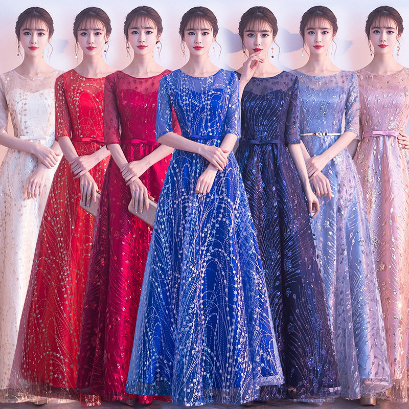 Flower Girl Dress Gengli Choral Gowns Female Long 2020 New Atmosphere, Cultivate Morality Dress Old Chorus Costume Show Thin