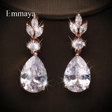 Emmaya Dazzling Waterdrop Shape AAA Zirconia Design Earring Women Bridal Wedding Party Fashion Statement Distincitive Jewelry