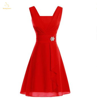 Bealegantom 2019 Simple Short Chiffon Prom Dresses Bead Formal Evening Party Gown Mini Homecoming Dress Vestido De Gala QA1576
