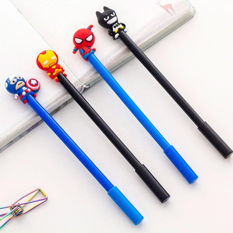 8 шт. 0,5 мм каваи ручки нейтральные ручки Лот Творческий Студент земной герой гелевая ручка в стиле мультфильма комплект с черными чернилами ...
