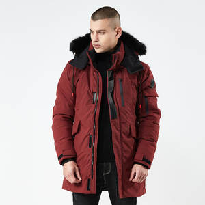Winter Jacket Parka Hooded Sports-Coat Military Warm Thick Outerwear Long-Fur-Collar