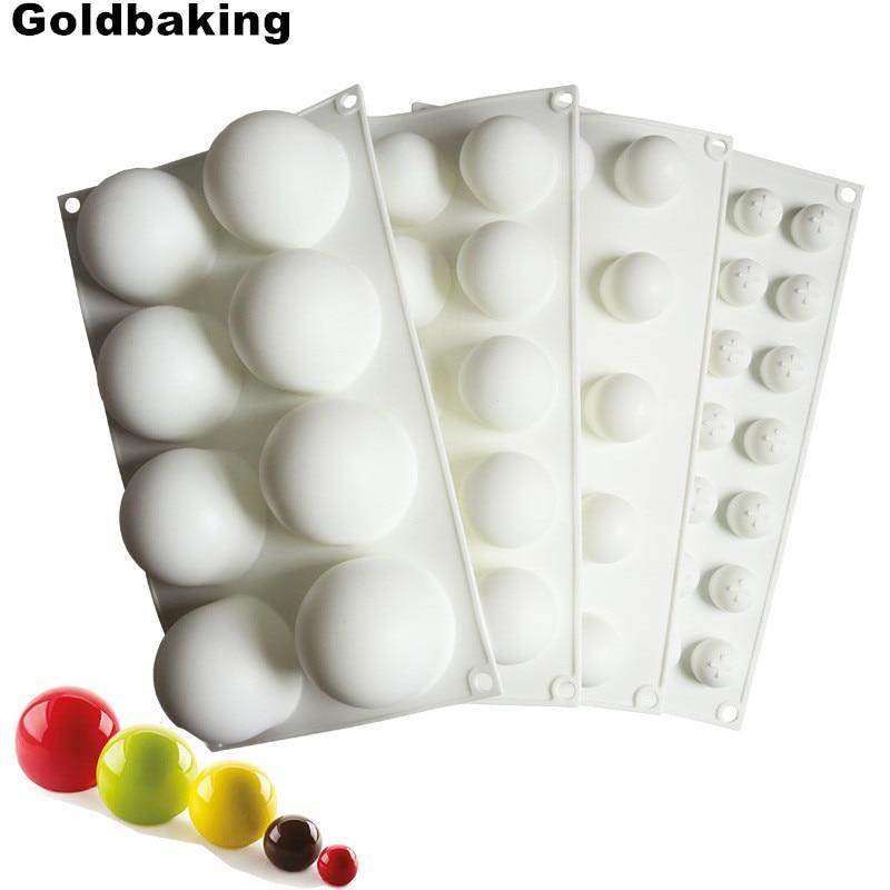Силиконовая форма для шоколада силиконовый шарик силиконовые формы для выпечки 3D полусферы конфеты трюфель противень для выпечки