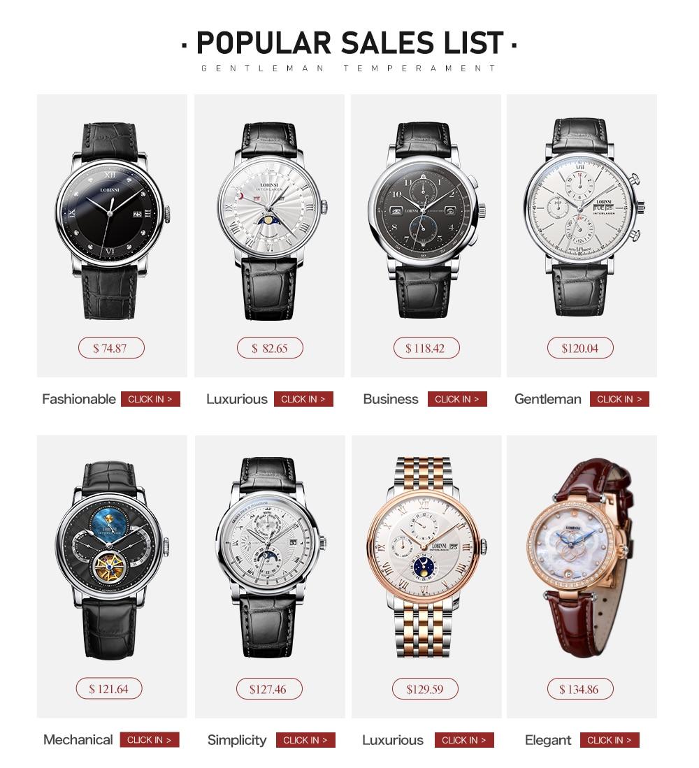 H719096b96eb74b6aa4f88065871f954bJ Switzerland LOBINNI Men Luxury Brand Quartz Watch Men Sapphire Waterproof Moon Phase Japan Quartz Movement Male Wristwacth