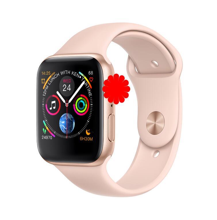 IWO 8 スマートウォッチすべて新デザイン 44 ミリメートルケース腕時計シリーズ 4 iphone 6 7 8 X XS Xiaomi huawei 社サポート SMS Facebook Whatsapp  グループ上の 家電製品 からの スマートウォッチ の中 1