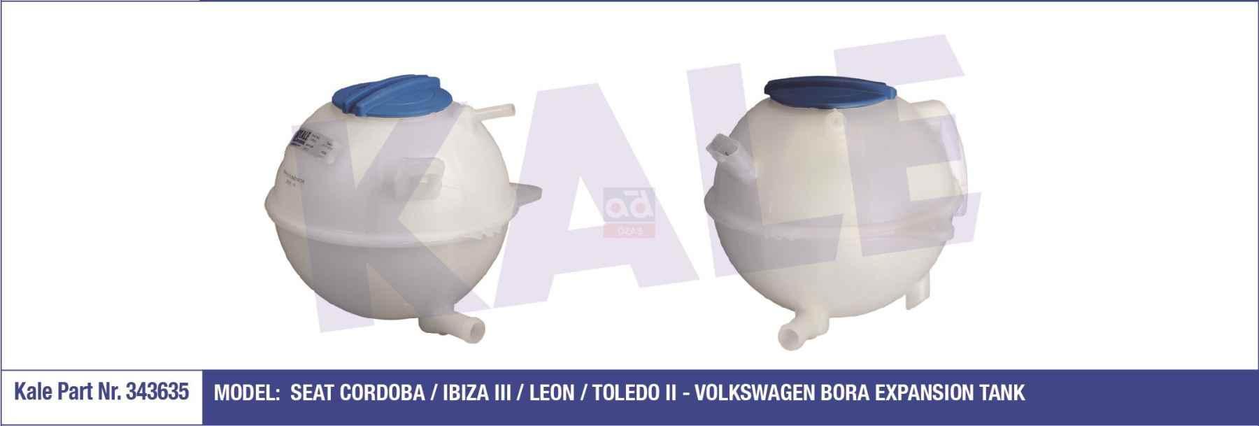 Морская водоросль-343635-RADYATOR Замена канистры для воды для VOLKSWAGEN GOLF Характеристическая вязкость полимера (1 J1) 9705 1,4 16V 1390 CC-75 HP (1997/8-2005/6) AHW   С обеих сторон  